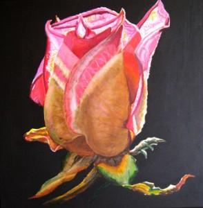 Rød rose akryl